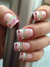Gorgeous christmas nails ideas 43