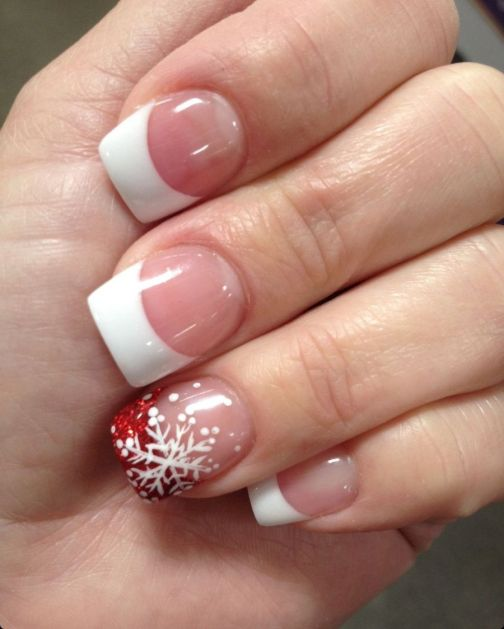 Gorgeous christmas nails ideas 61