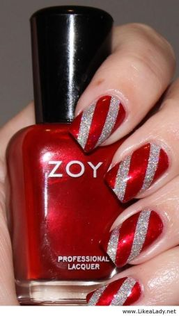 Gorgeous christmas nails ideas 64
