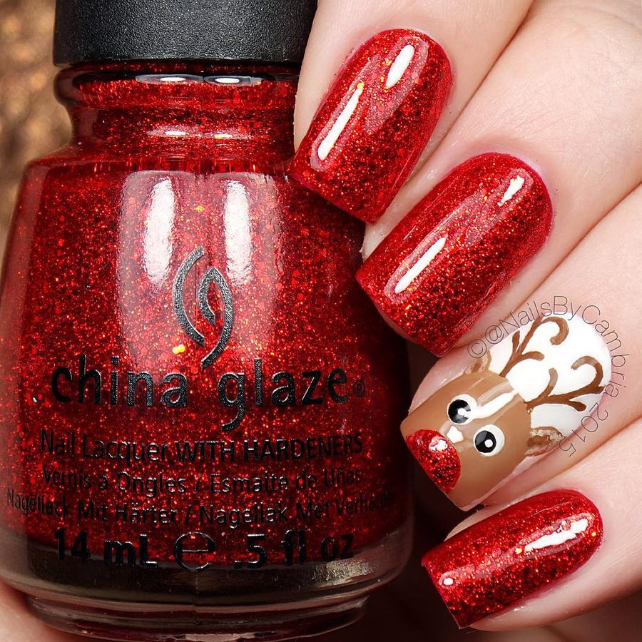 Gorgeous christmas nails ideas 93
