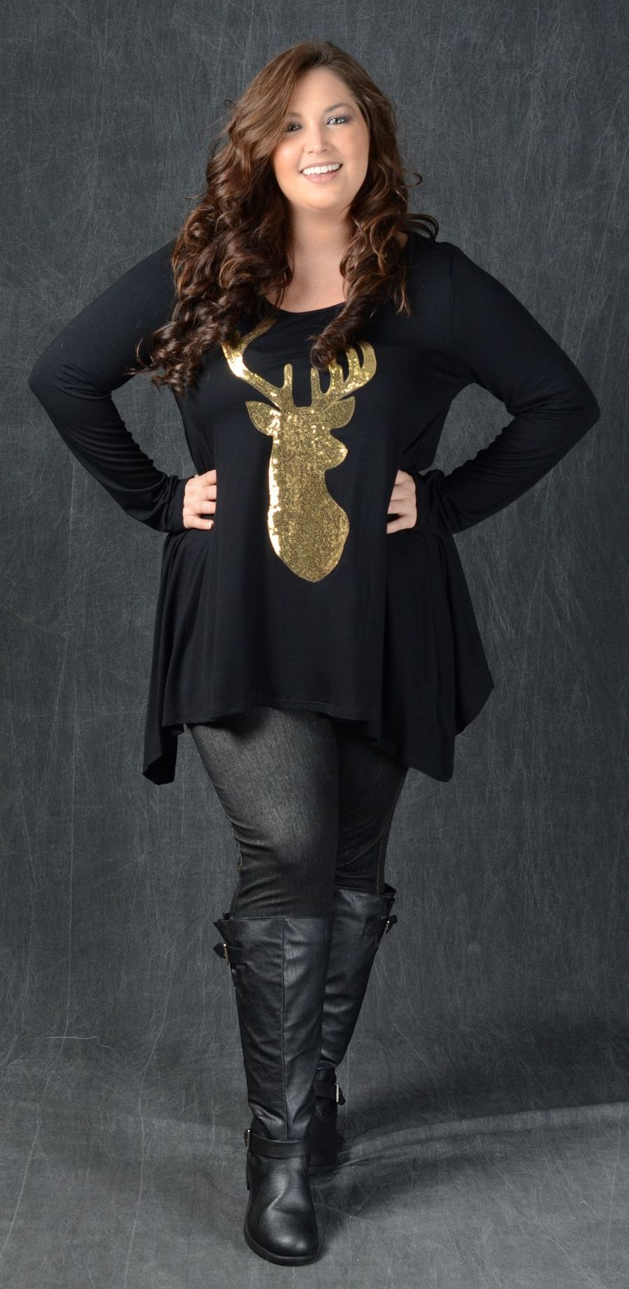 Inspiring winter outfits for plus size 14