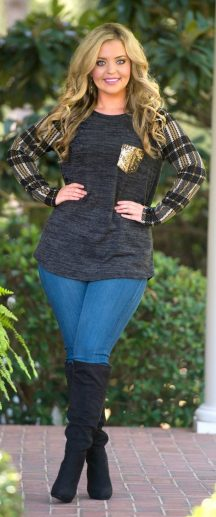 Inspiring winter outfits for plus size 48