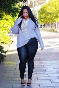Inspiring winter outfits for plus size 49