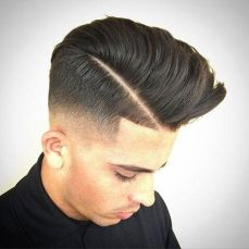 Men classy modern pompadour hairstyle 11