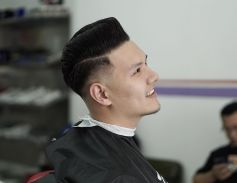 Men classy modern pompadour hairstyle 18