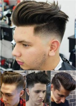 Men classy modern pompadour hairstyle 3