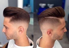 Men classy modern pompadour hairstyle 33