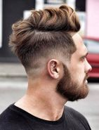 Men classy modern pompadour hairstyle 51