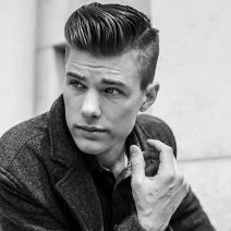 Men classy modern pompadour hairstyle 7