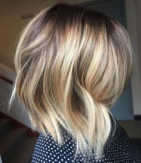 Stylish blonde lobs haircut ideas 57
