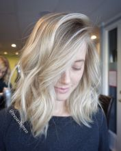 Stylish blonde lobs haircut ideas 71