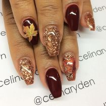 Swag thanksgiving nails art 2