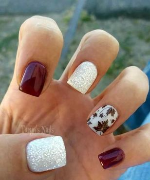 Swag thanksgiving nails art 24