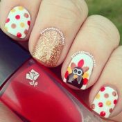 Swag thanksgiving nails art 29