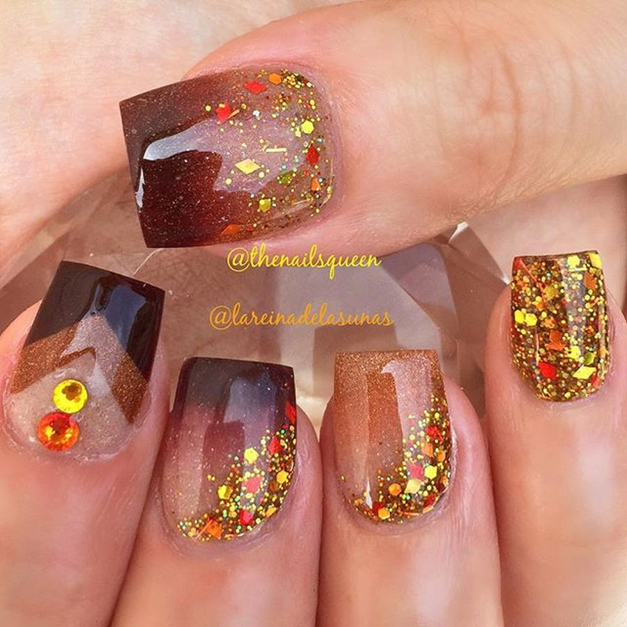 Swag thanksgiving nails art 31