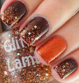 Swag thanksgiving nails art 34