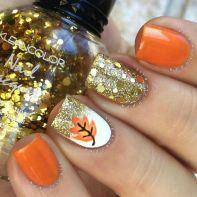 Swag thanksgiving nails art 42