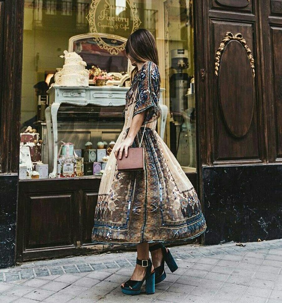 Boho dress for holiday and vacation outfits 18