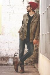 Casual indie mens fashion outfits style 24