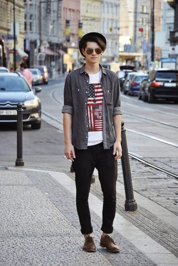 Casual indie mens fashion outfits style 56