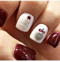 Pretty winter nails art design inspirations 11