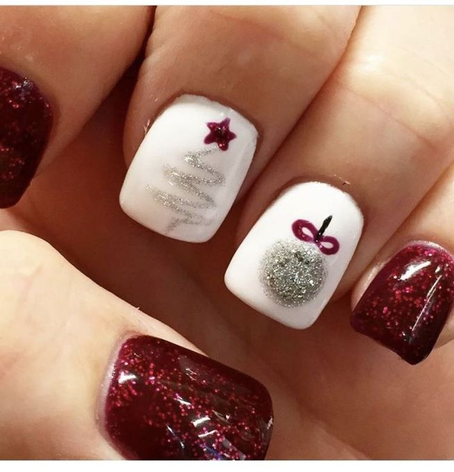 80 Pretty Winter Nails Art Design Inspirations - Fashion Best