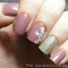 Pretty winter nails art design inspirations 21
