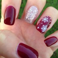 Pretty winter nails art design inspirations 54
