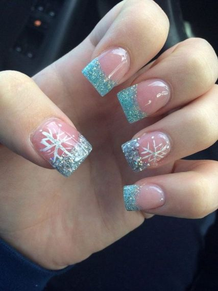 130 fresh ideas to make glitter acrylic nails for this winter sweet acrylic nails ideas for winter 41 prinsesfo Images