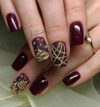 Sweet acrylic nails ideas for winter 58