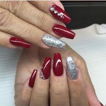 Sweet acrylic nails ideas for winter 64