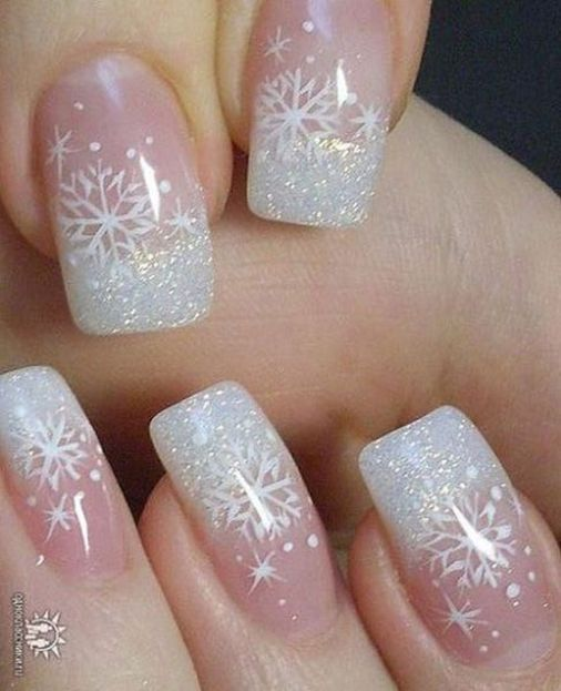 Sweet acrylic nails ideas for winter 87