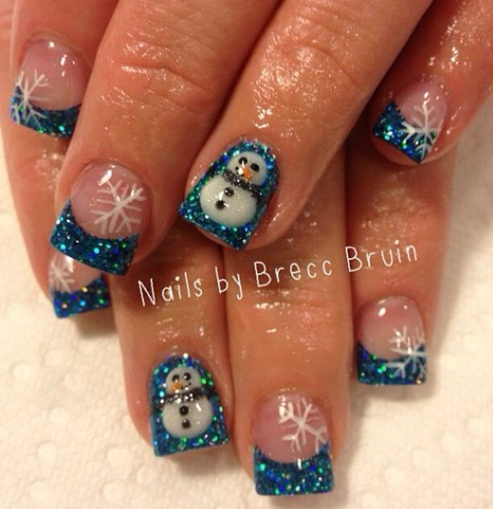 Sweet acrylic nails ideas for winter 97