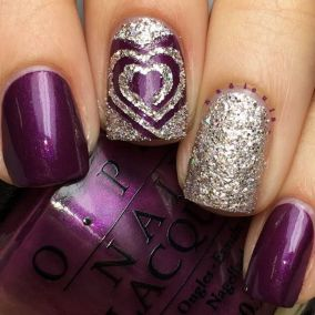 Lovely valentine nails design ideas 18