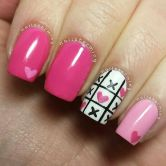 Lovely valentine nails design ideas 46