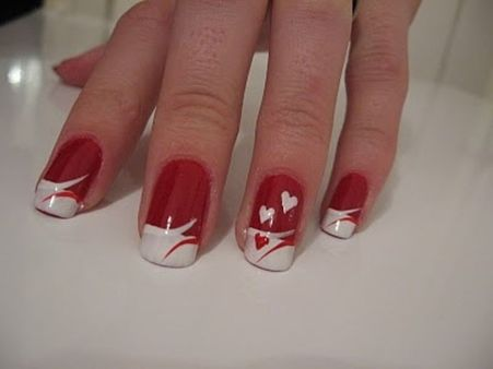 Lovely valentine nails design ideas 70