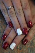 Lovely valentine nails design ideas 72