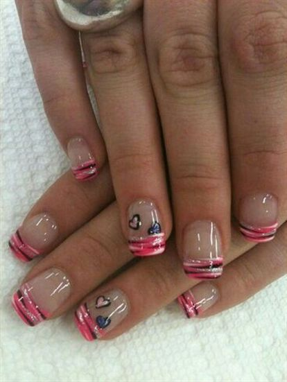 Lovely valentine nails design ideas 76