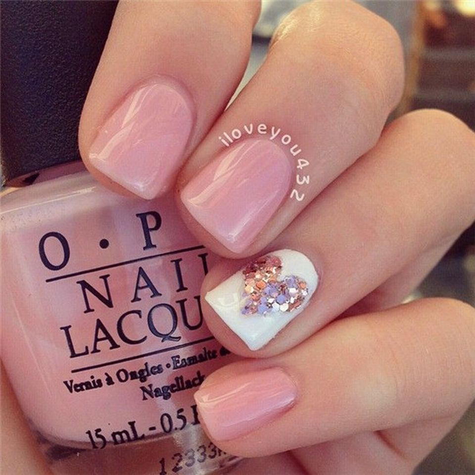 lovely valentine nails design ideas 83 - Nails Design Ideas