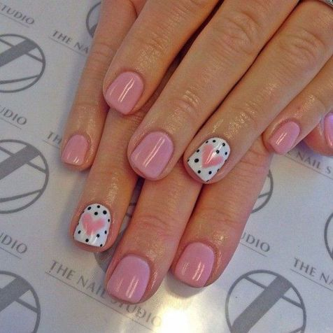 Lovely valentine nails design ideas 84