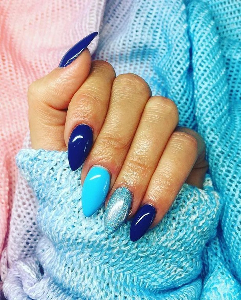 Sweet Blue Nails Ideas that Make Cool and Calm Appearance 1