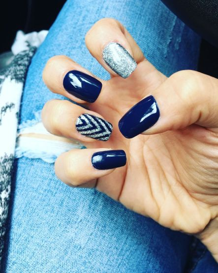 Sweet Blue Nails Ideas that Make Cool and Calm Appearance 13