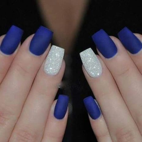 Sweet Blue Nails Ideas that Make Cool and Calm Appearance 18