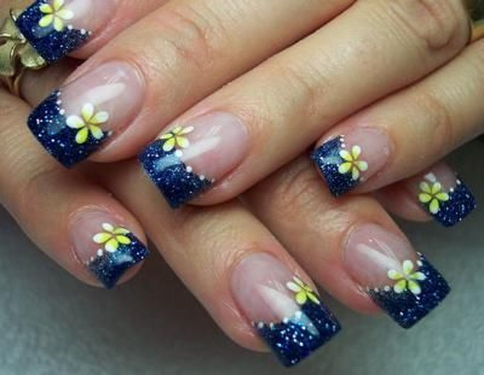Sweet Blue Nails Ideas that Make Cool and Calm Appearance 19