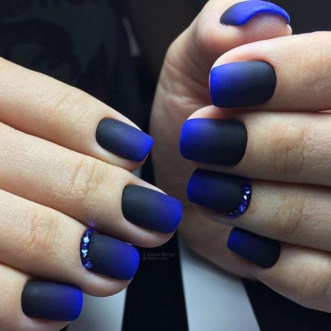 Sweet Blue Nails Ideas that Make Cool and Calm Appearance 34