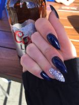 Sweet Blue Nails Ideas that Make Cool and Calm Appearance 43
