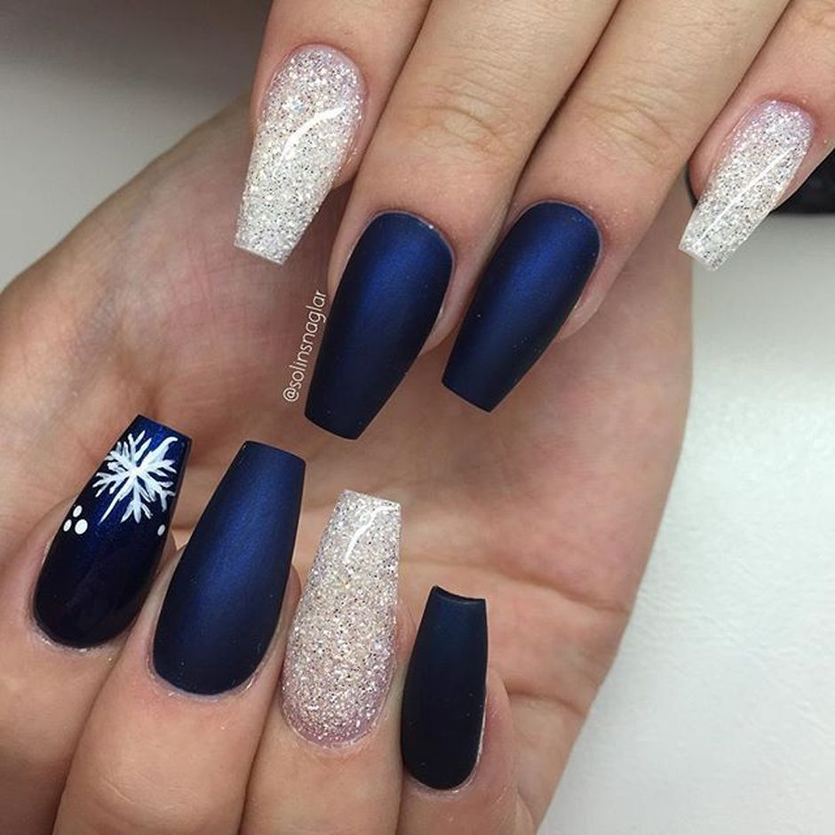 Sweet Blue Nails Ideas that Make Cool and Calm Appearance 55