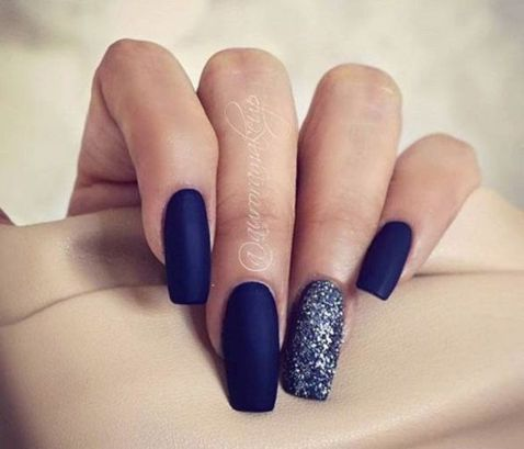 Sweet Blue Nails Ideas that Make Cool and Calm Appearance 6