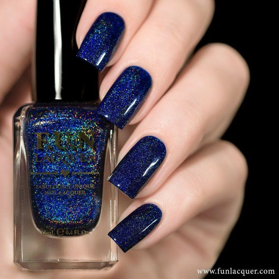Sweet Blue Nails Ideas that Make Cool and Calm Appearance 70