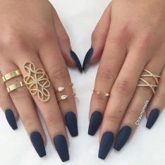 Sweet Blue Nails Ideas that Make Cool and Calm Appearance 73